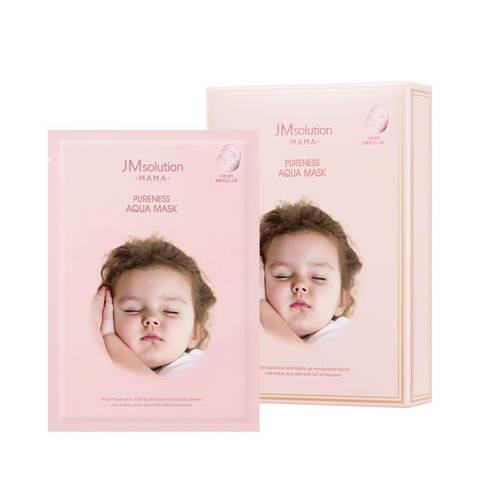 Гипоаллергенная тканевая маска для увлажнения кожи JMsolution Mama Pureness Aqua Mask