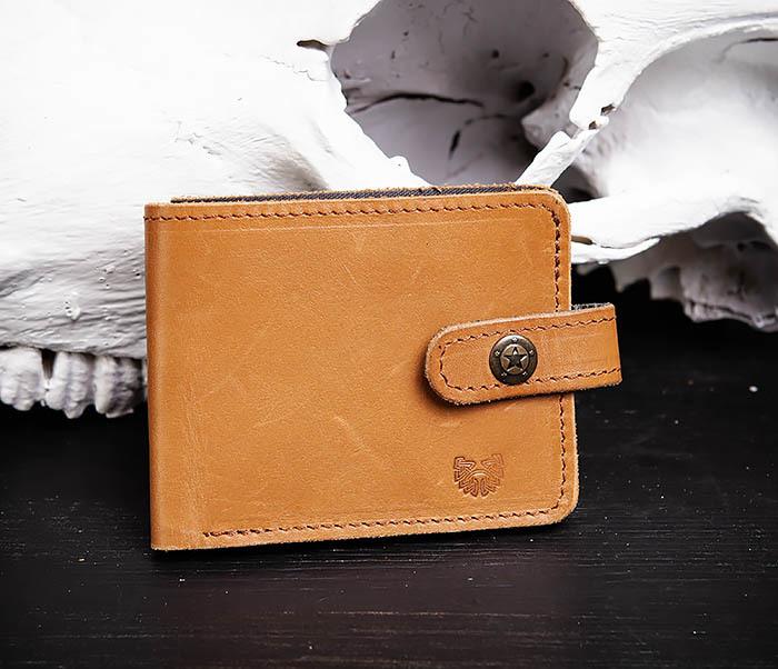 WB162 Мужской кожаный кошелек ручной работы, «Boroda Design»