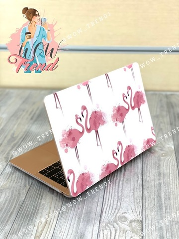 Накладка пластик MacBook Pro 13.3 Retina New /picture flamingo/ DDC