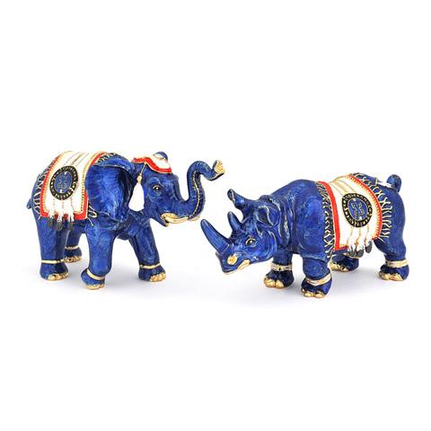 Синий слон и носорог