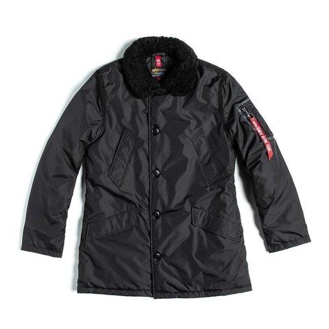 Куртка Alpha Industries B-9 Sherpa Straight Hem Black (Черный)