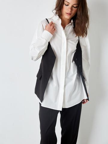 Рубашка свободного кроя из хлопка белая