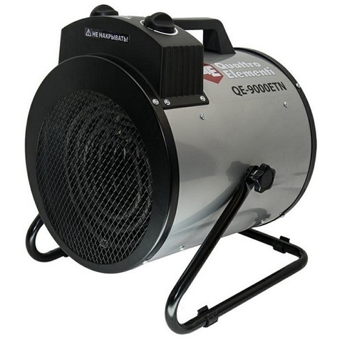 Нагреватель воздуха электрический QUATTRO ELEMENTI QE-9000 ETN (4.5 / 9кВт, 380В-3ф, 880 м (649-288)