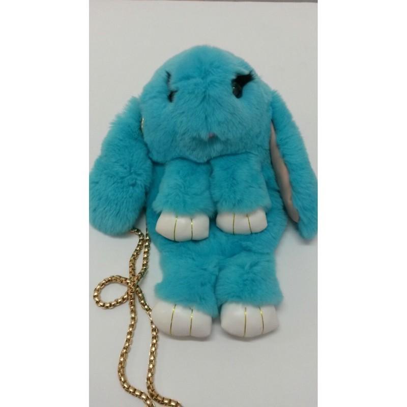 Бирюзовый (ярко-голубой) вариант цвета сумки кролика