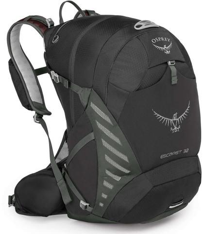 Картинка рюкзак велосипедный Osprey Escapist 32 Black - 1