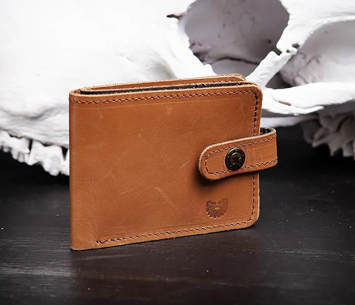 WB162 Мужской кожаный кошелек ручной работы, «Boroda Design» фото 02