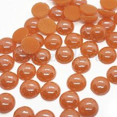 Купить оптом термоклеевой керамический полужемчуг оранжевый Orange