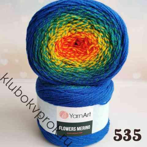 YARNART FLOWERS MERINO 535, Красный/желтый/зеленый/синий