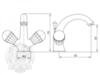 Смеситель для раковины Korona Swarovski ML.KRN-4734 схема