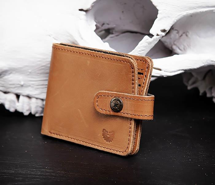 WB162 Мужской кожаный кошелек ручной работы, «Boroda Design» фото 03