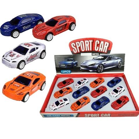 Машинки металлические спорт (мини) 1кор*1бл*12шт