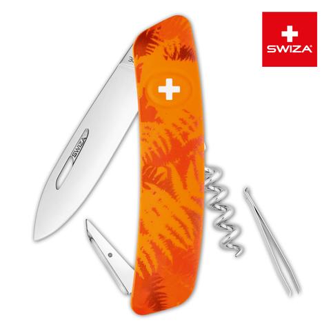 Швейцарский нож Swiza  (KNI.0010.2060) C01 Camouflage 95 мм 6 функций оранжевый