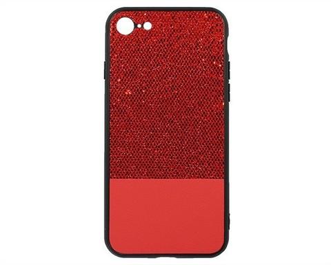 Чехол для iPhone 7/8/SE серия Bling | мерцающий красный