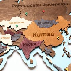 Карты Мира из дерева с подсветкой фото 4