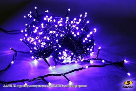 A-047R BL гирлянда светодиодная 30м 300 LED влагозащищенная