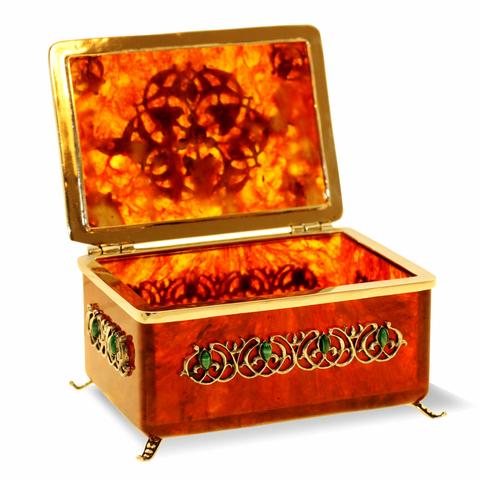 Коробочка для чая «Восточная сказка» из янтаря