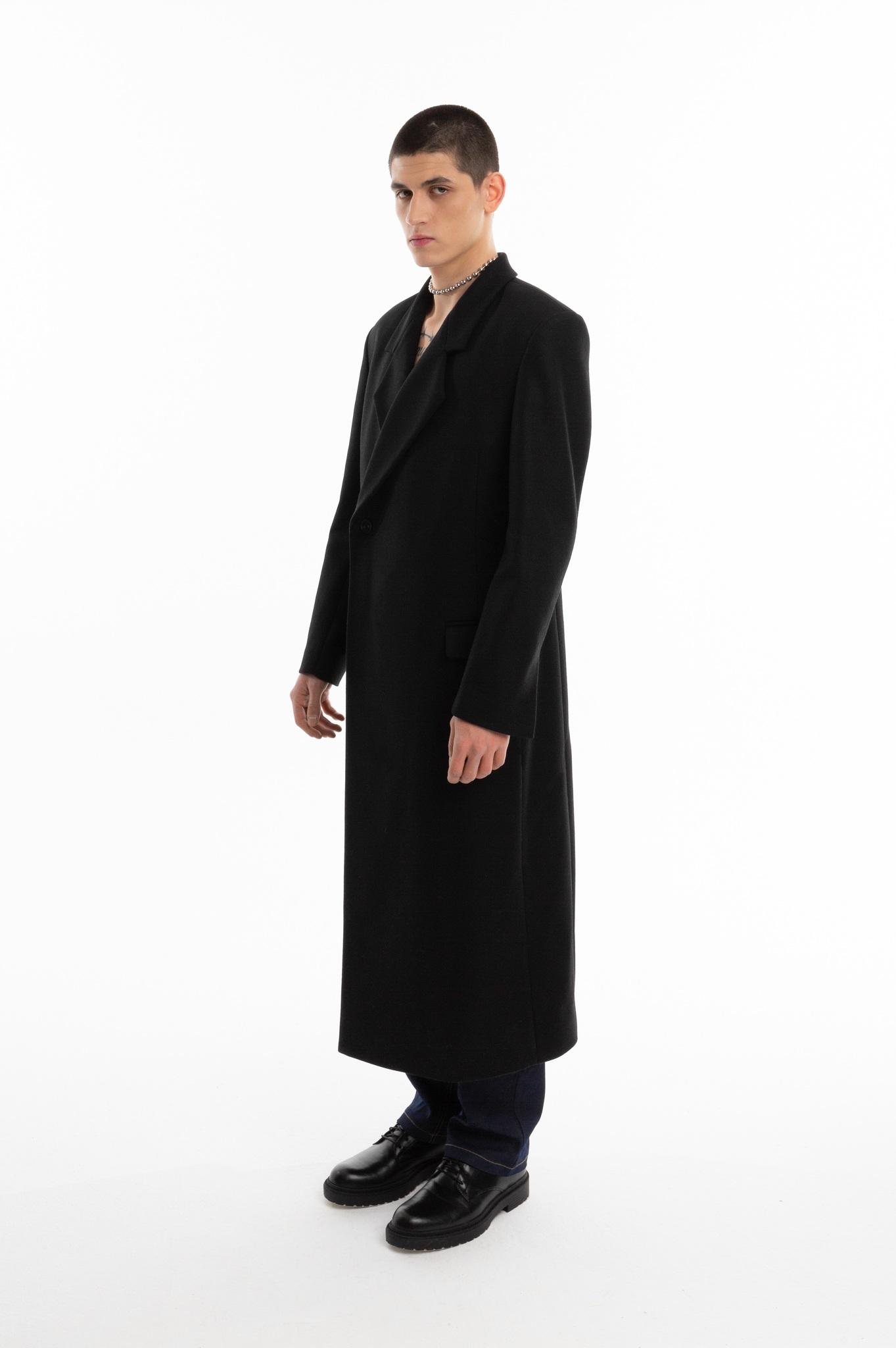 Пальто с запахом/black