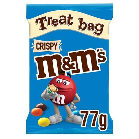 Драже M&M's Crispy в шоколадной глазури 77 гр