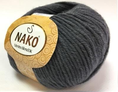 Пряжа Nako Merino Blend DK 131 темно-серый