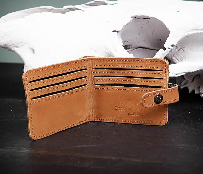 WB162 Мужской кожаный кошелек ручной работы, «Boroda Design» фото 04