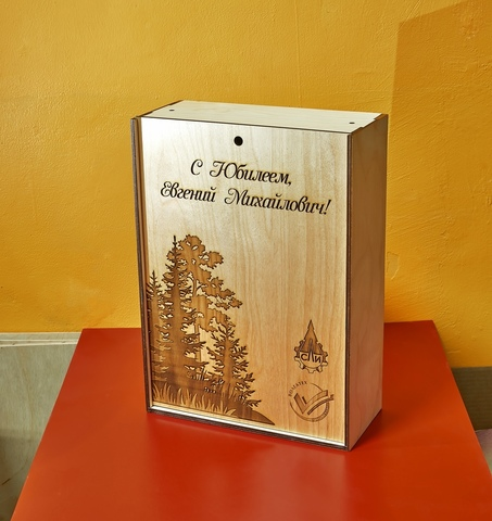 Коробка для вина ДекорКоми, из дерева с фотогравировкой