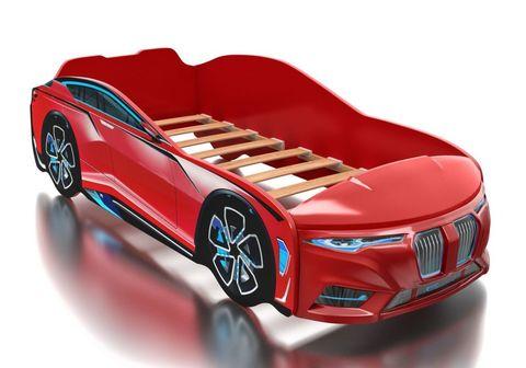 Кровать машина Romack Boxter красный