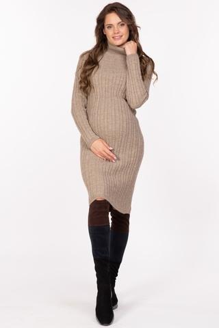 Платье для беременных 11249 бежевый