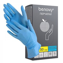 Перчатки нитриловые BENOVY