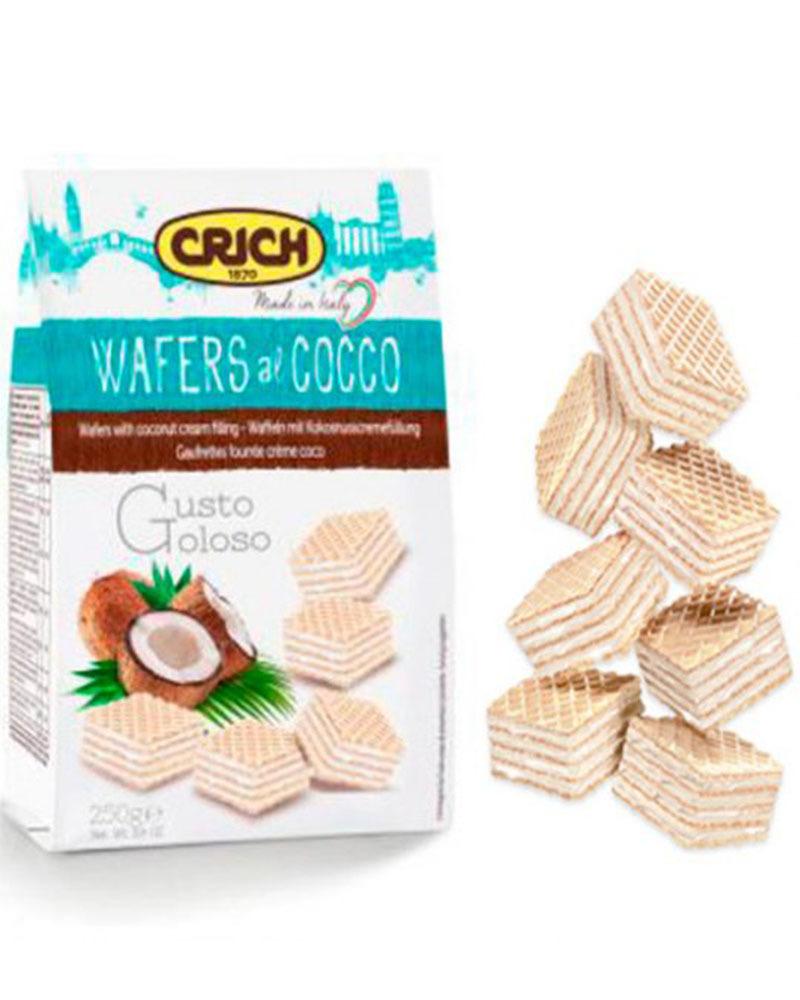 Вафли Crich с кокосово-кремовой начинкой, 250 гр.