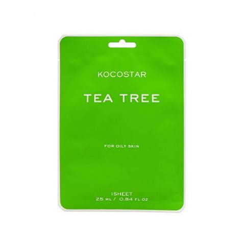Kocostar Маска для проблемной кожи против высыпаний с Чайным деревом / Tea Tree mask, 1 шт