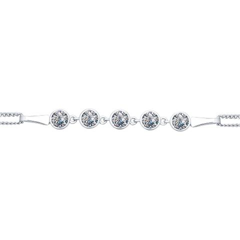 94050303 - Браслет из серебра с дорожкой из фианитов
