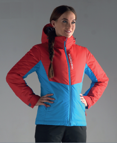 Утепленная куртка Nordski Montana Red/Blue женская