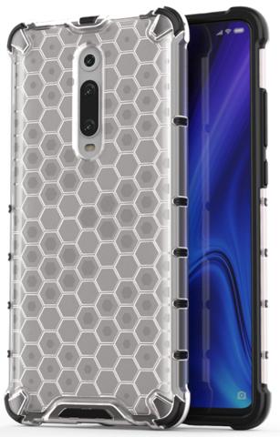 Чехол на телефон Xiaomi Mi 9T и 9T Pro от Caseport, серия Honey, прозрачный корпус