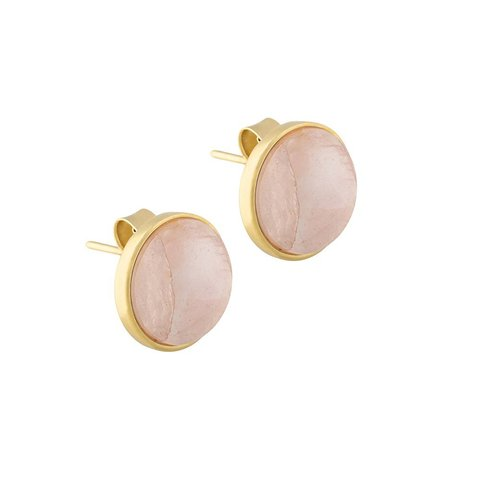Пусеты Pearl Quartz Rose A1992.9 R/G