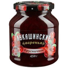 Варенье Лукашинские брусничное, 450г