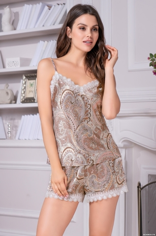 Пижама женская шелковая Mia-Amore  CLEMENTINA КЛЕМЕНТИНА 3452