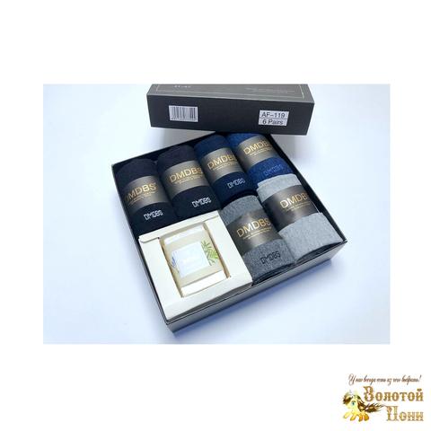 Носки мужские 6 шт в коробке+мыло (40-45) 190108-AF-119