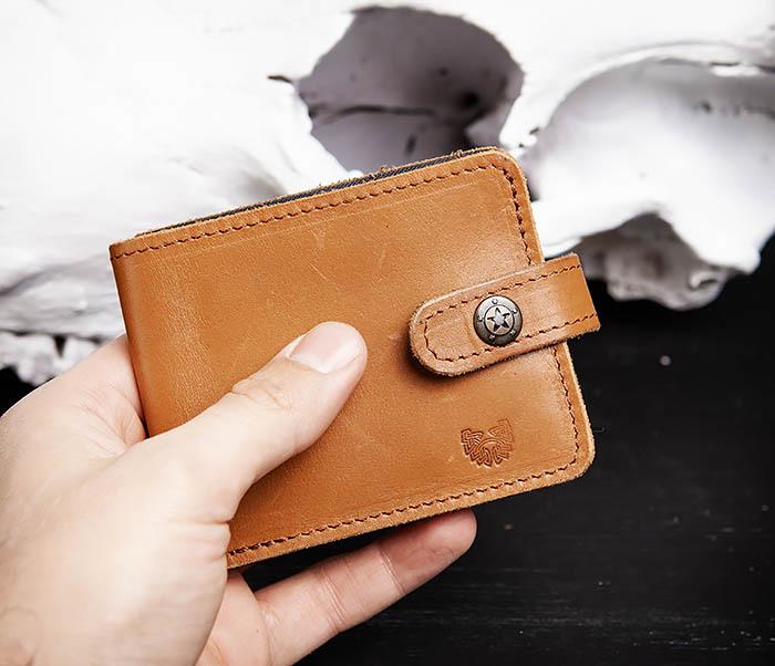 WB162 Мужской кожаный кошелек ручной работы, «Boroda Design» фото 06