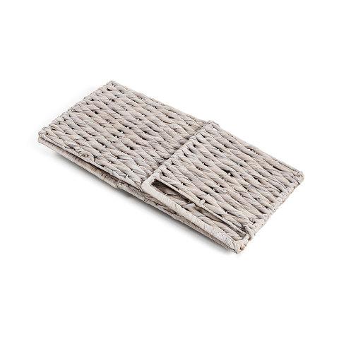 Плетеная корзина Woody белая