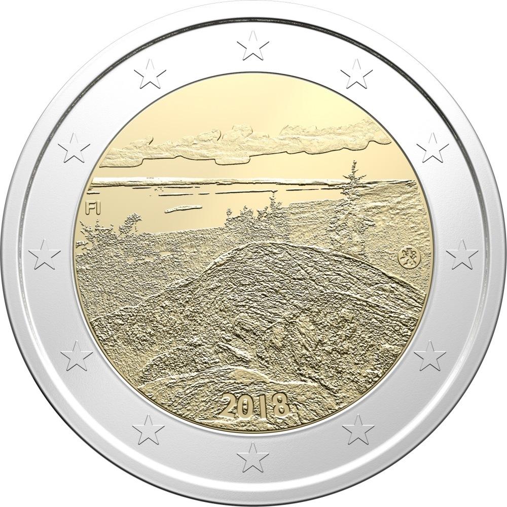 2 евро 2018 Финляндия - Финские национальные ландшафты Коли