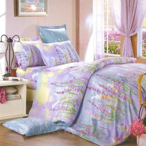 Сатиновое постельное бельё  2 спальное  В-143