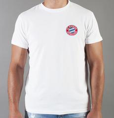 Футболка с принтом FC Bayern Munchen (ФК Бавария) белая 008
