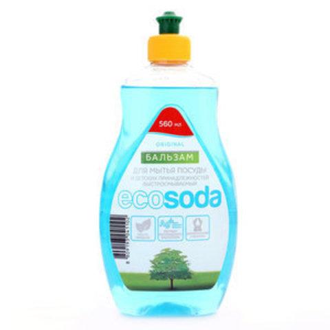 Бальзам для мытья посуды и детских принадлежностей Mama Ultimate EcoSoda Original быстросмываемый 560 мл