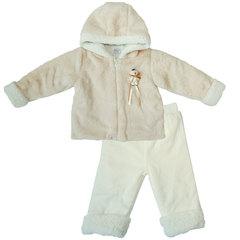 Папитто. Комплект утепленный куртка и брюки, беж/экрю вид 1