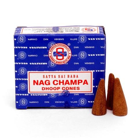 Индийские палочки Satya Nag Champa dhoop конус