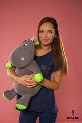 Мягкая игрушка-подушка Gekoko «Бегемот Няша», зеленый 1