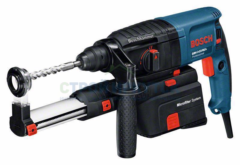 Перфораторы Перфоратор с пылеудалением, с патроном SDS-plus Bosch GBH 2-23 REA (0611250500) a6342e1f6e9c6fd50092e460d055776e