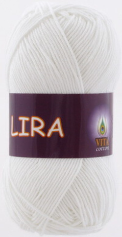Пряжа Lira (Vita cotton) 5001 Белый