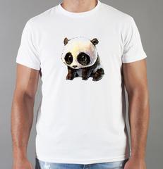 Футболка с принтом Панда, Медвежонок (Panda) белая 0037
