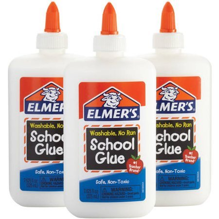 Набор для изготовления слаймов Elmer's School Glue белый 3*225 мл